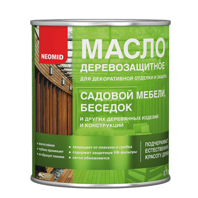 Неомид - масло для садовой мебели и беседок