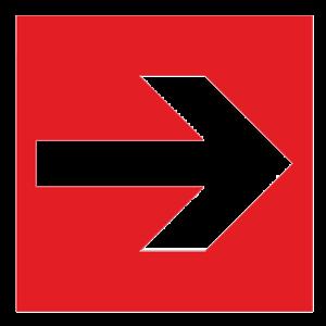 Знак - Направляющая стрелка F01-01