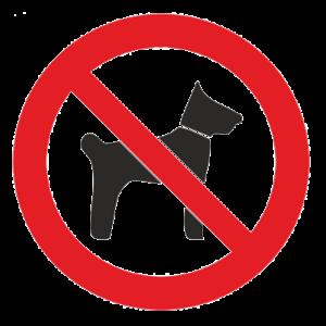 Знак - Запрещается вход с животными Р-14