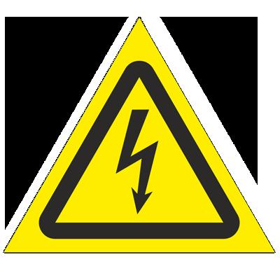 Знак - Опасность поражения электрическим током W08